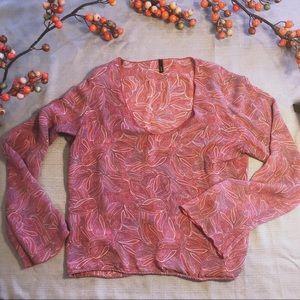 J. Crew boho silk paisley top
